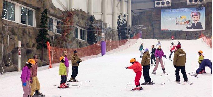 Ski con niños en Madrid