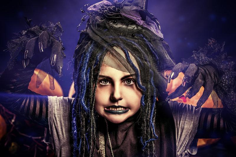 Maquillajes de Halloween para niñas por Supertribus