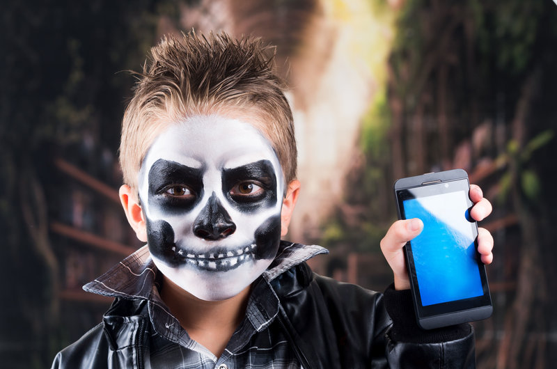 Maquillaje de esqueleto para niño, de Supertribus