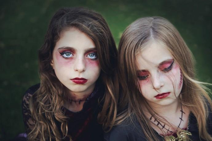 Maquillaje de Niñas, Hijas de Frankestein, para Supertribus