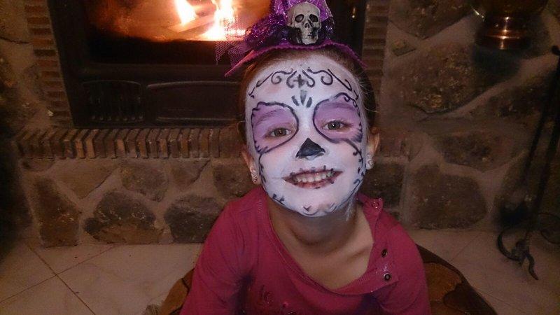 Maquillaje de Catrina para niña: Halloween para Supertribus