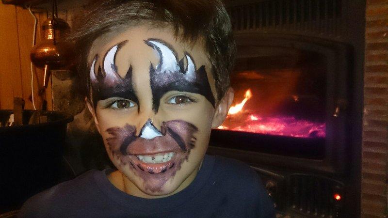 Maquillaje de Monstruo para niño: Halloween para Supertribus
