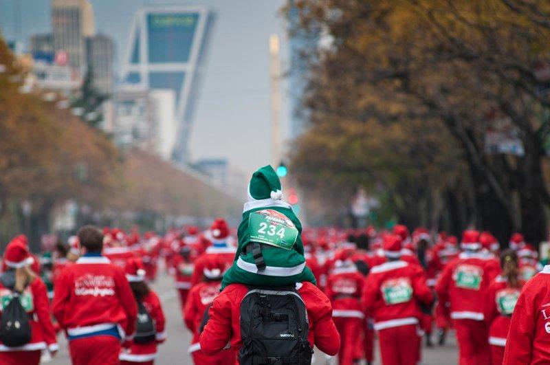 La Gran Carrera de Papá Noel en Madrid, 12 Diciembre de 2015