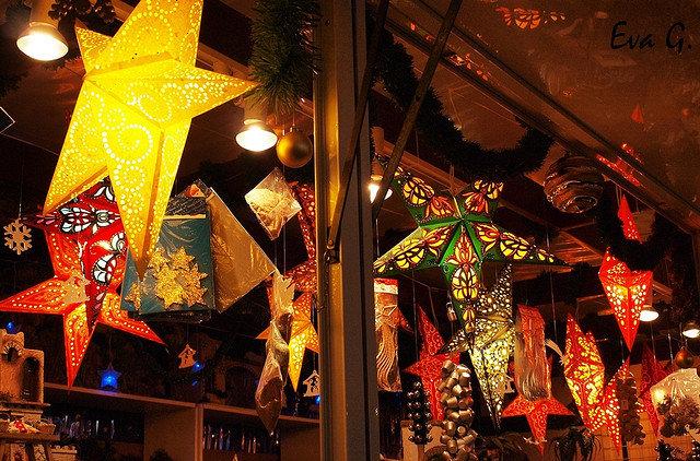 Estrellas de Navidad en Bib-Rambla: Foto de Eva Garmendia (Flickr)