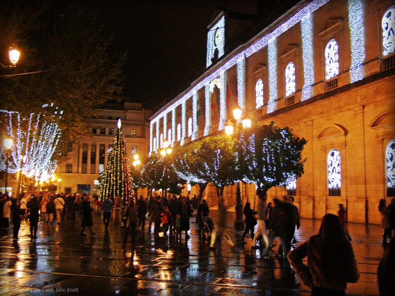 Plaza Nueva (Sevilla) en Navidades: Foto de Caleb Knott (Flickr)