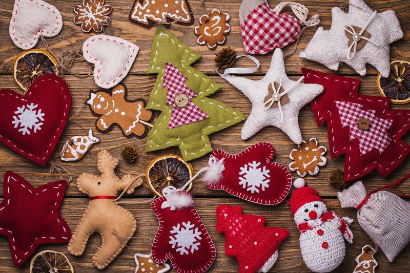Figuritas de fieltro para el árbol de Navidad