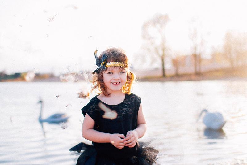 Disfraz de Niña Cisne Negro