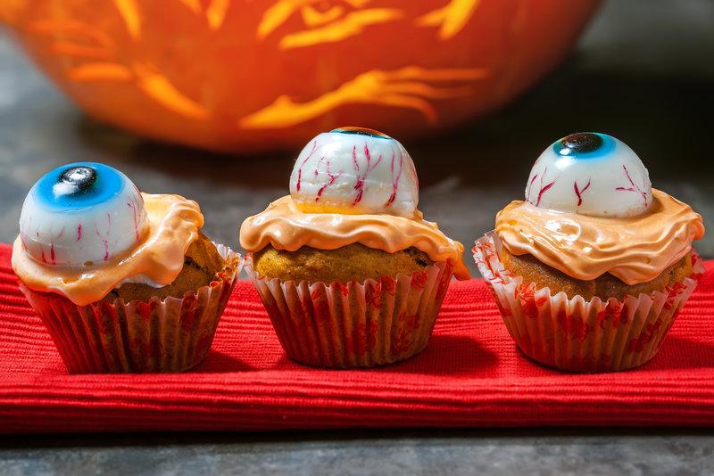 Cupcakes de Halloween para niños en Supertribus