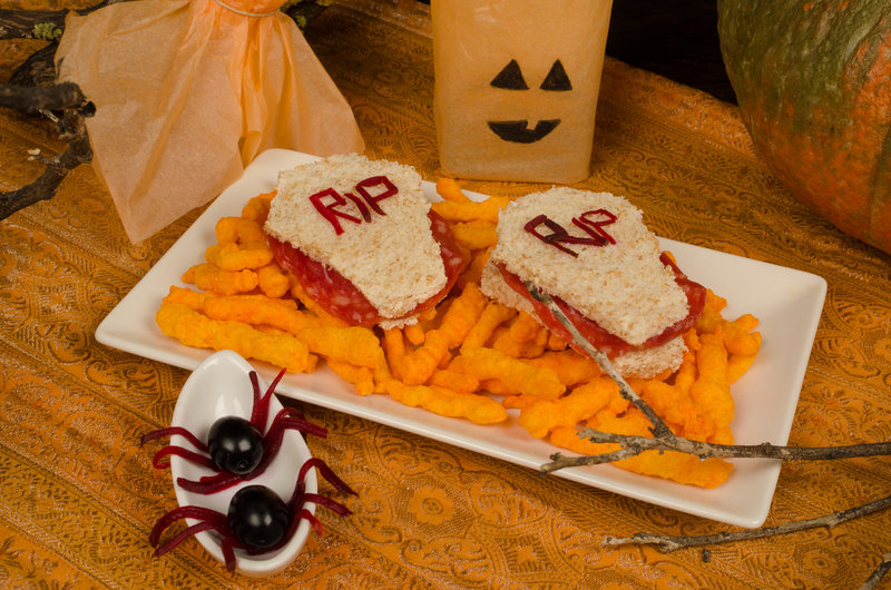 Sandwiches de Halloween monstruosos para Supertribus