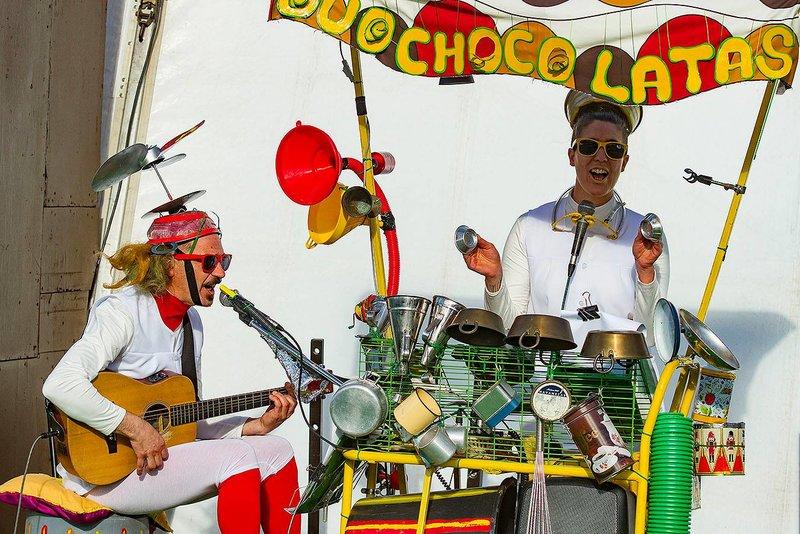 Duo Choco Latas en el Festival de Chocolate de Óbidos en Portugal