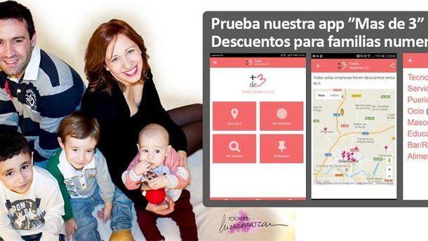 APP MÁS DE 3 DESCUENTOS PARA FAMILIAS NUMEROSAS