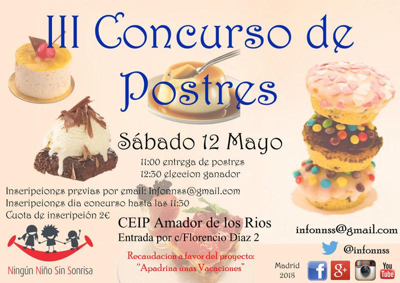 Concurso de Postres en la Fiesta del Deporte Solidario 2018