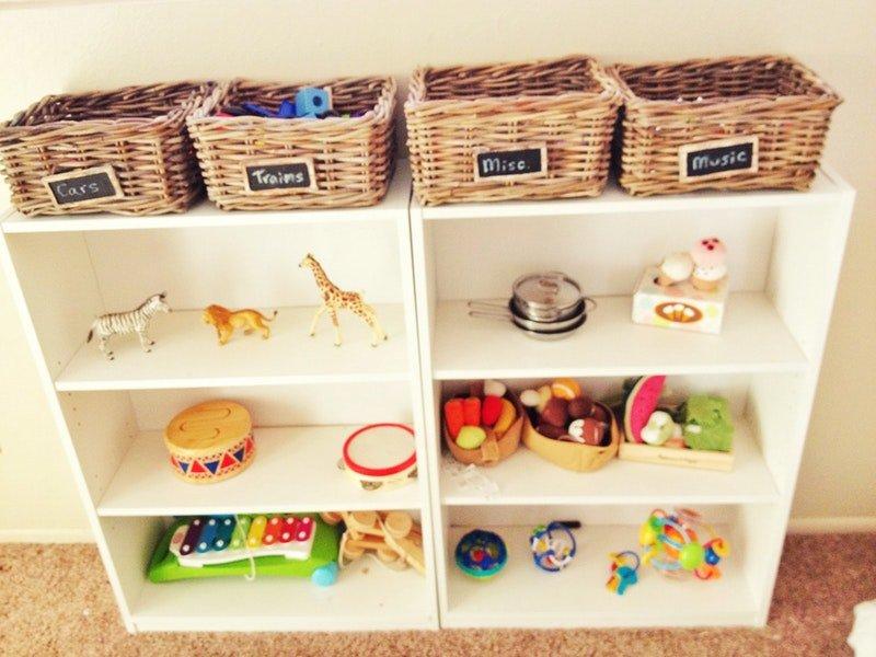 Cosas Accesibles a los niños en un dormitorio Montessori