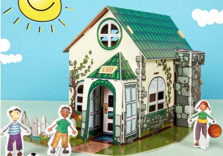 Tienda solidaria de Unicef Puzzle 3D Happy School en Supertribus