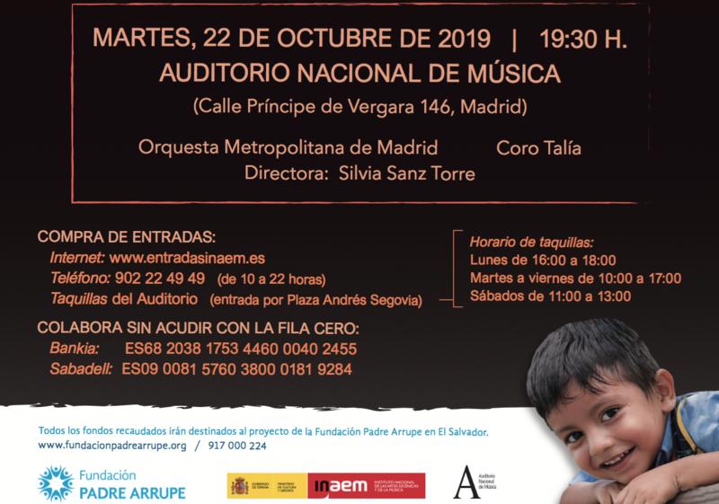 CONCIERTO BENÉFICO DE HALLOWEEN 2019 FUNDACIÓN PADRE ARRUPE